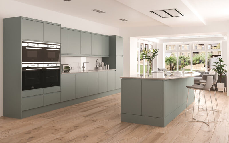 Eco Kitchens | Integra Handeless Gloss Kitchen | Hertfordshire Kitchens