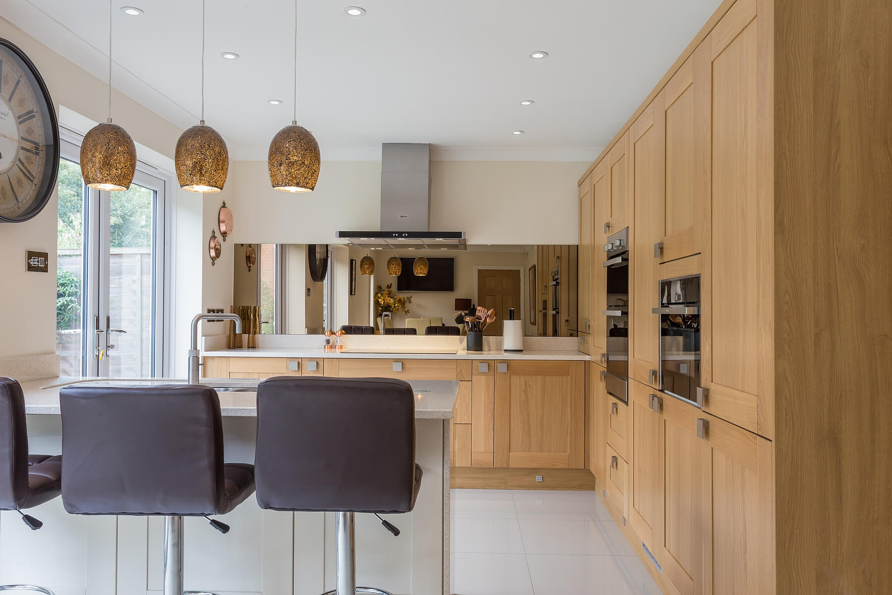Oak & Cream Shaker kitchen | Enfield North London | Eco Kitchens
