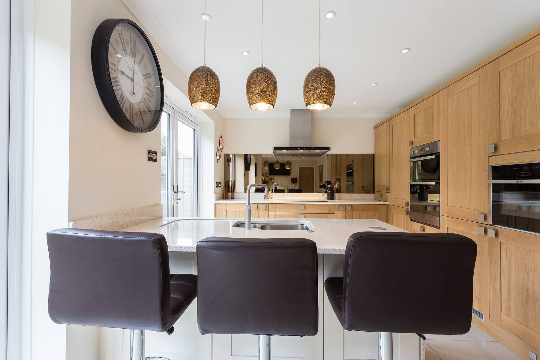 Oak and Cream Shaker Kitchen | Enfield North Londons | Eco Kitchens