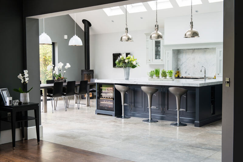 1909 Kitchens | St. Albans | Charcoal Grey and Partridge Grey Painted Kitchen